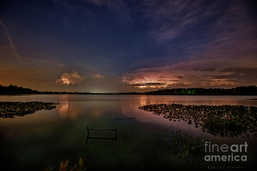 Lightening Photograph - Thunderclouds On Horizon by David Arment