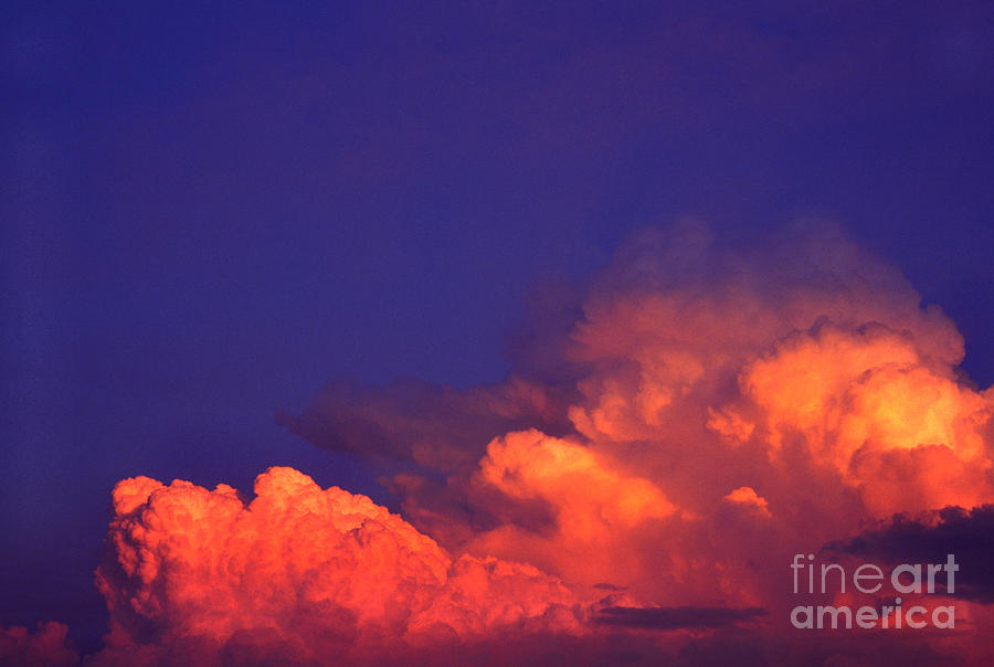 Cumulonimbus Calvus Photograph - Thunderhead At Sunset by Thomas R Fletcher