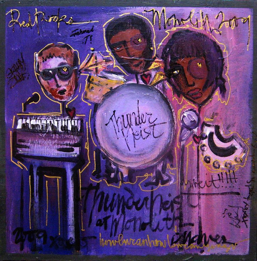 Thunderheist Painting - Thunderheist Plays Monolith by Laurie Maves ART