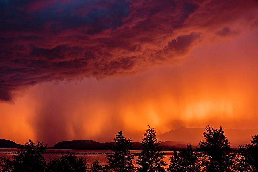Thunderstorm at Sunset 2 by Albert Seger