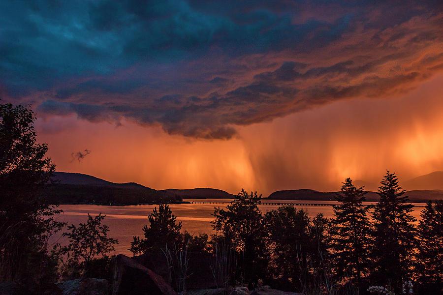 Thunderstorm at Sunset by Albert Seger
