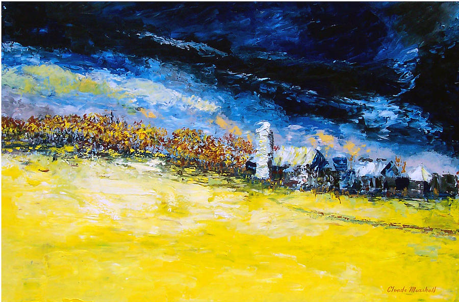 Abstract Painting - Thunderstorm by Claude Marshall
