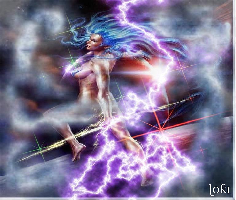 Fantasy Digital Art - Thunderstorm by Loki Gwyn