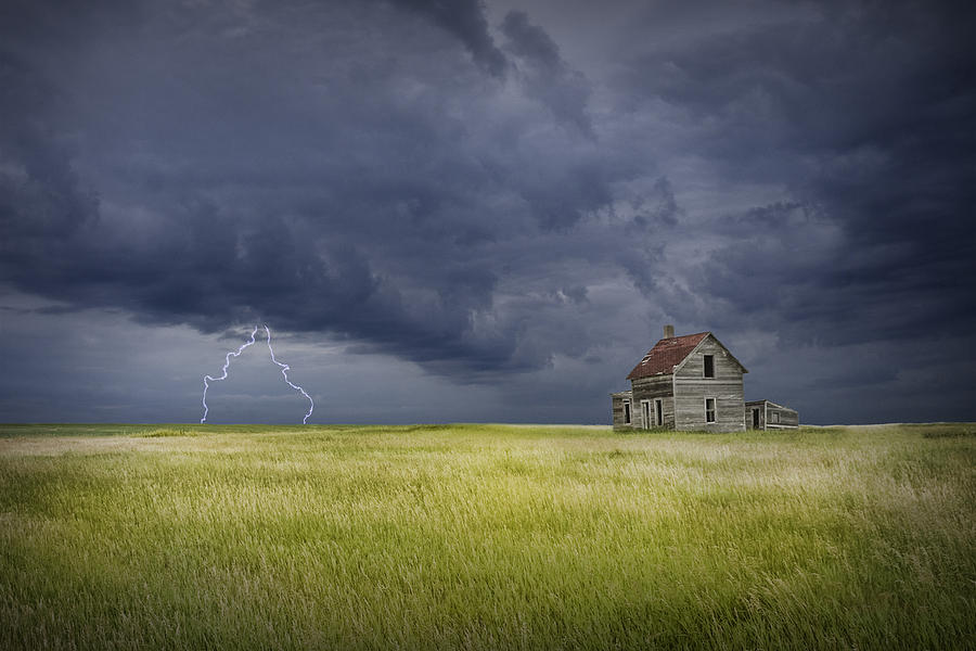 Thunderstorm On The Prairie Photograph By Randall Nyhof