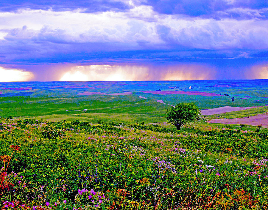 The Palouse Photograph - Thunderstorm Over The Palouse by Margaret Hood