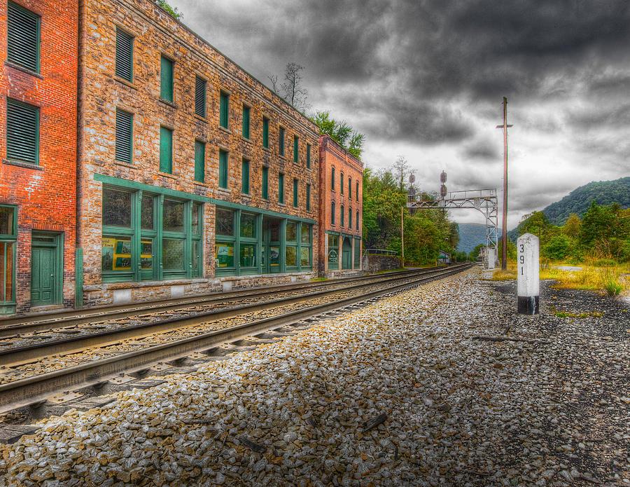 Railroad Town Photograph - Thurmond West Virginia Hdr by John Mueller