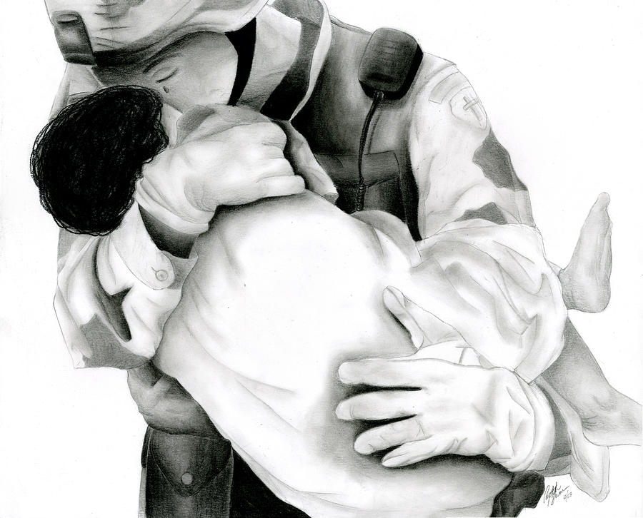 Soldier Drawing - Thy Will Be Done by Ruth Blum