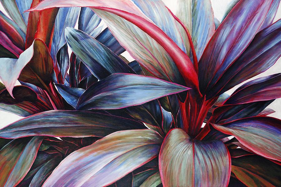 Acrylic Painting - Ti In Blue by Sandra Blazel - Printscapes
