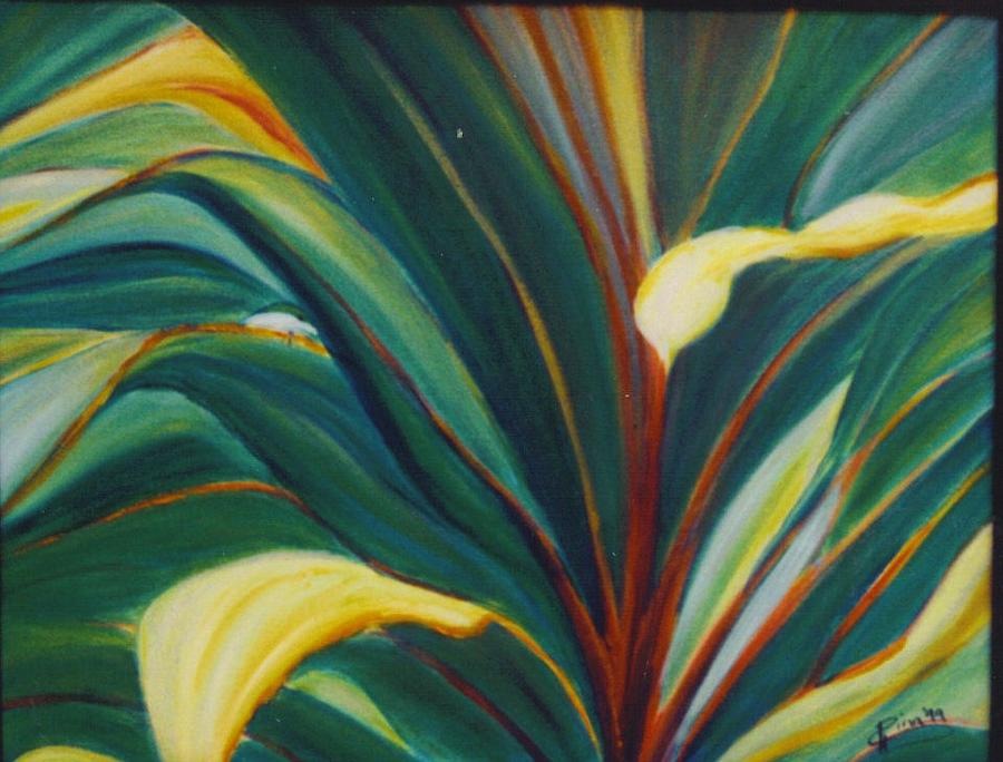 Foliage Painting - Ti Leaves Too by Dina Holland