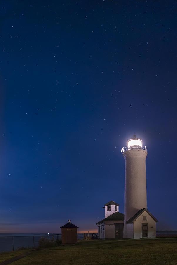 Landscape Photograph - Tibbets Point Light Night by Mark Papke