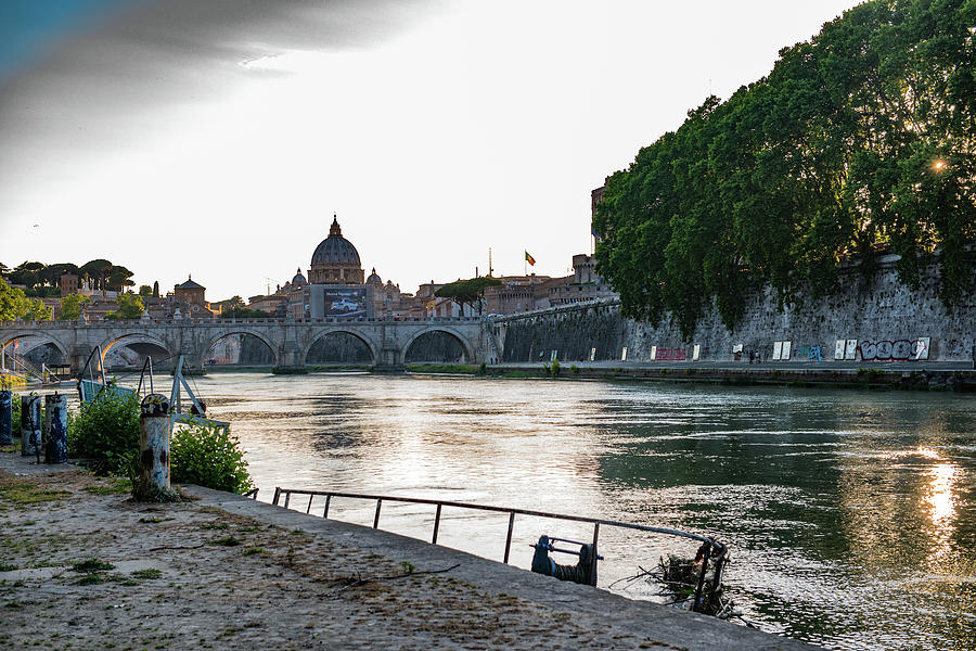 Italia Photograph - Tiber Walk by Joseph Yarbrough