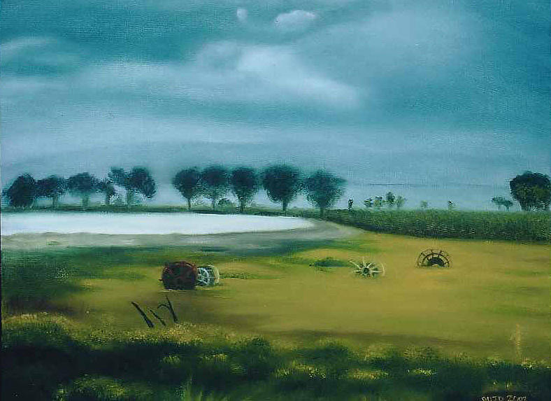 Tiberia Sea Painting by Lyne Bujold