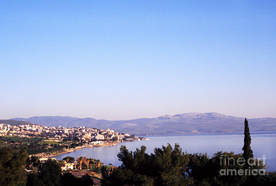 Tiberias Photograph - Tiberias Sea Of Galilee Israel by Thomas R Fletcher
