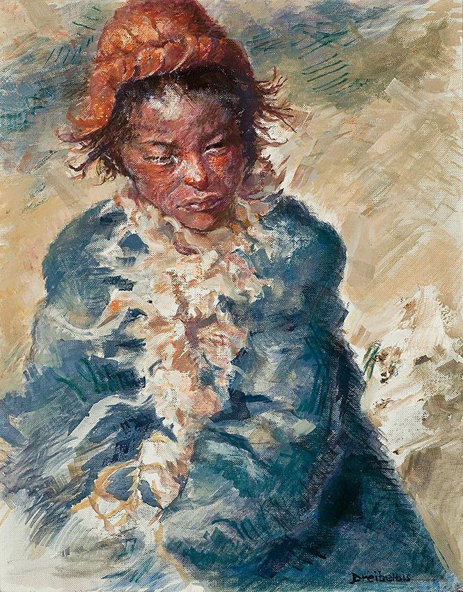 Oil Paintings Painting - Tibetan Goatherd by Ellen Dreibelbis