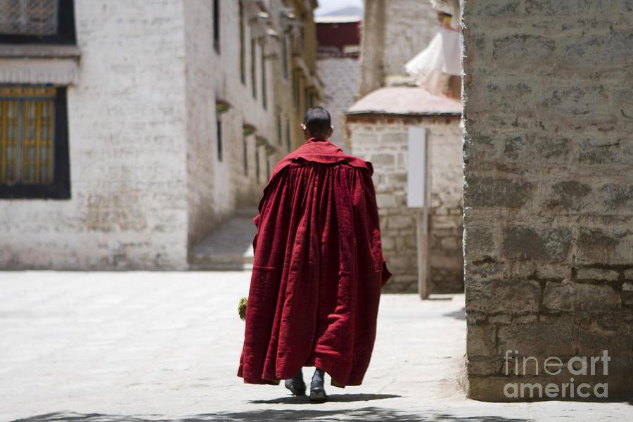 Tibetan Monk Photograph by Kalpana Geisenheyner
