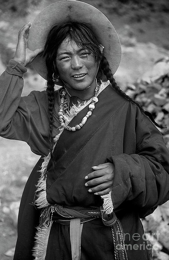 Tibetan Pilgrim at Mount Kailash by Craig Lovell