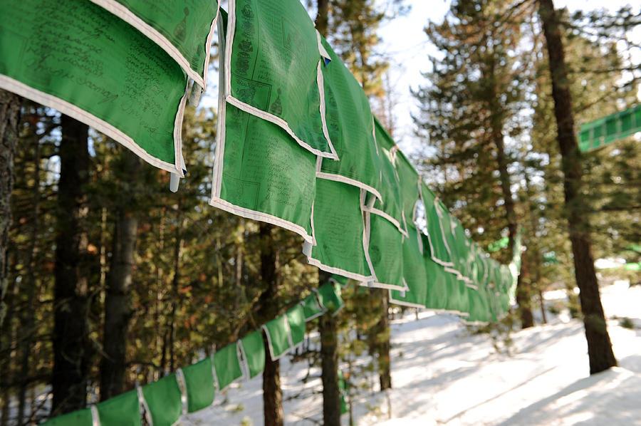 Flag Photograph - Tibetan Prayer Flags by Jessica Rose