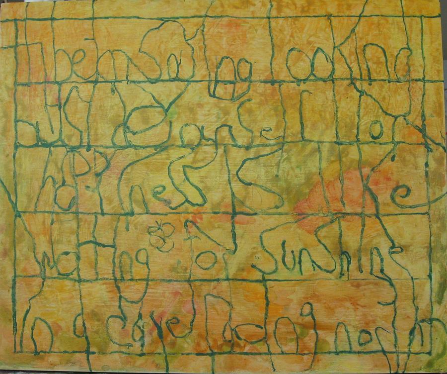 Watercolor Painting - Tibetan Saying by AJ Brown