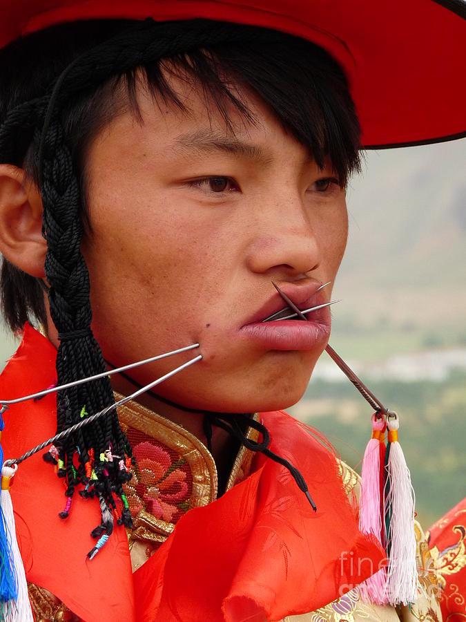 Tibet Photograph - Tibetan Tradition by Cris Motta