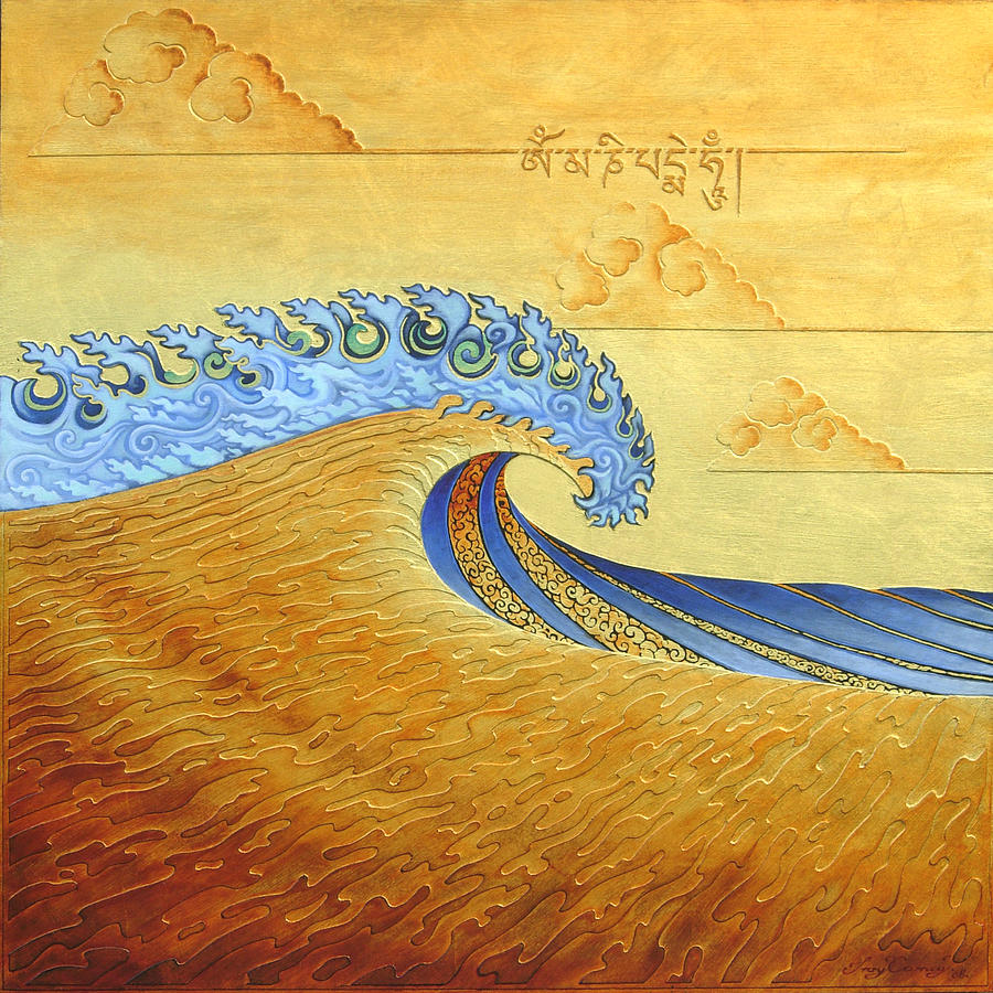 Tibetan Wave Sold Painting by Troy Carney