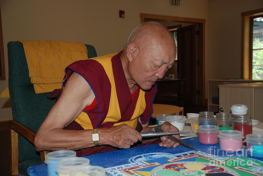 Tibetin Monk by Jim Goodman