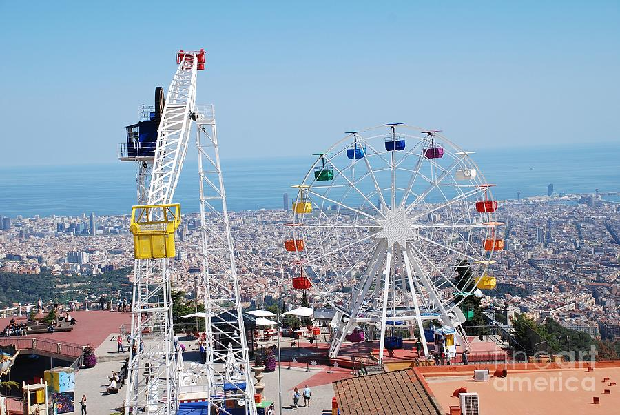 Tibidabo Amusement Park In Barcelona Photograph By David Fowler