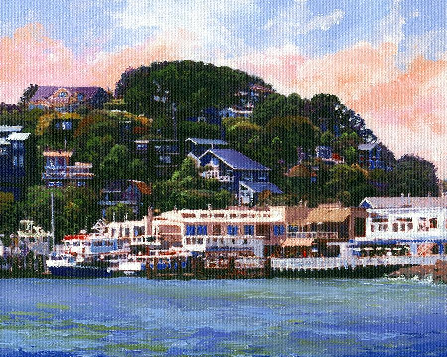 Tiburon California Waterfront Painting By Frank Wilson