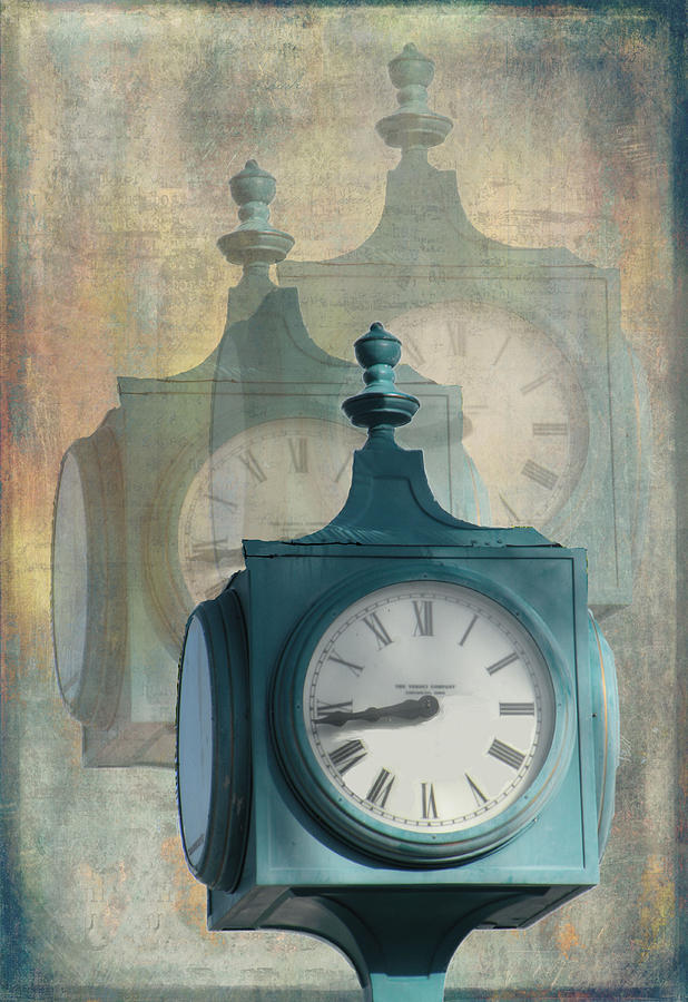 Clock Mixed Media - Tick Tock Version Two by Rosalie Scanlon