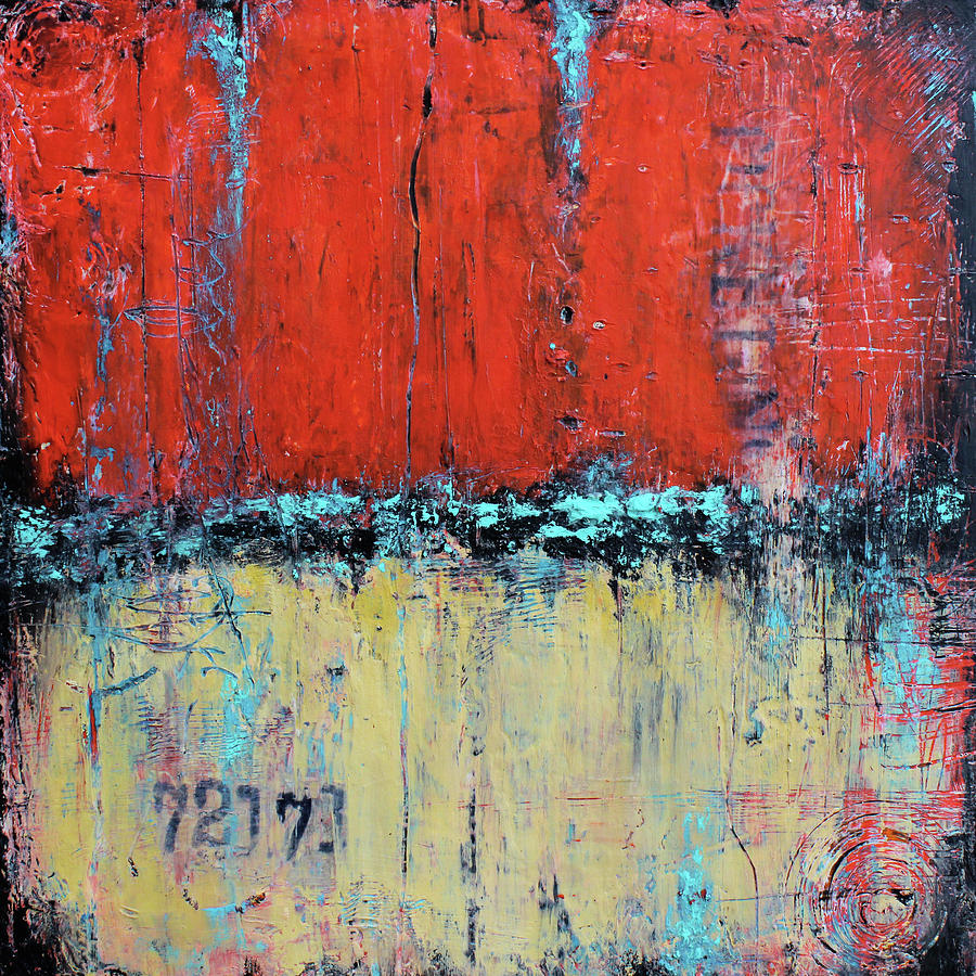Red Mixed Media - Ticket No. 72173 by Patricia Lintner