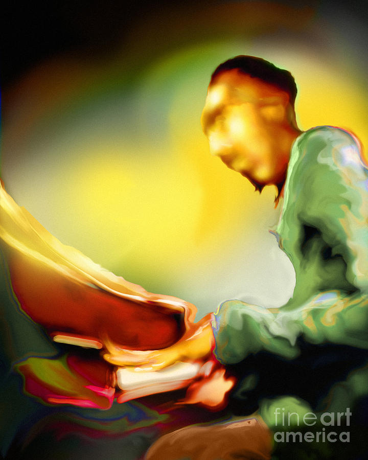 Jazz Artwork Painting - Tickln by Mike Massengale