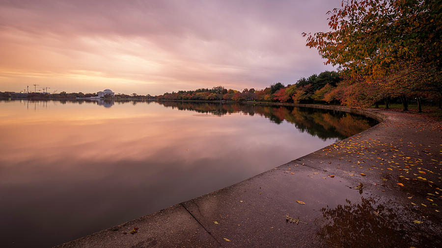 Alexandria Photograph - Tidal Basin In Fall 2 by Michael Donahue