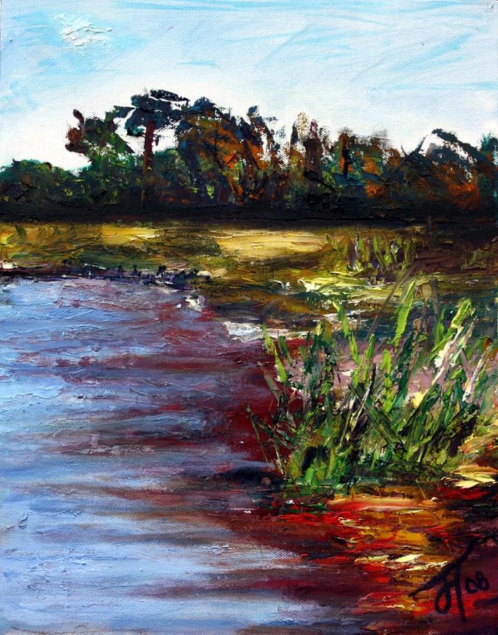 Landscape Painting - Tidal Creek by Jill Tennison