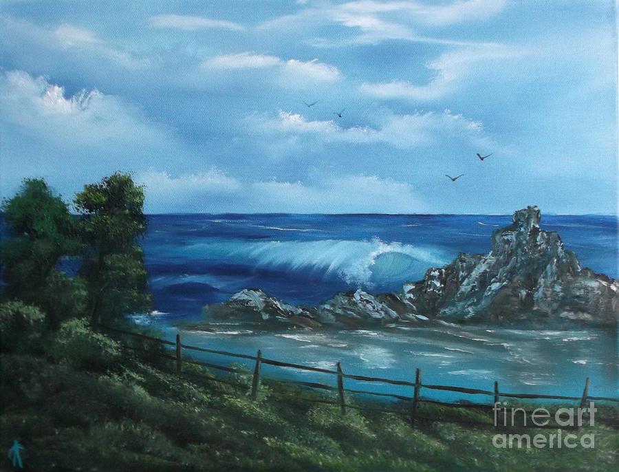 Seascape Painting - Tidal Eye by Cynthia Adams