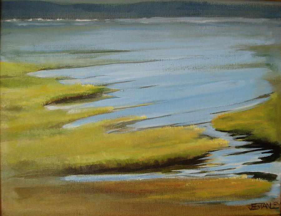 Bay Painting - Tidal Pond by Jenny Stanley