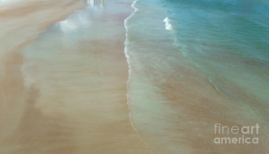 Beach Photograph - Tidal Reflections by Judy Hall-Folde