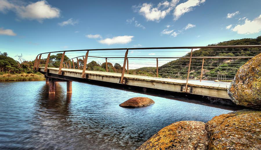 Australia Photograph - Tidal River Bridge by Paradigm Blue