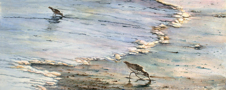 Wildlife Painting - Tidal Tidbits by Kathie Henry