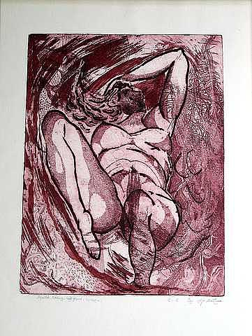 Tidal Wave Print by Samah Fahmy