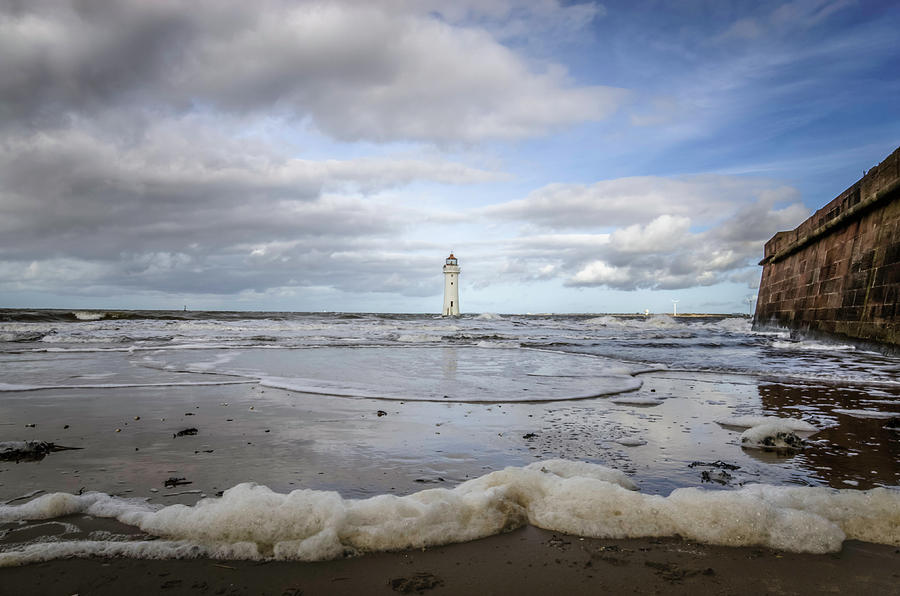 Tide coming in at Fort Perch Lighthouse by Spikey Mouse Photography