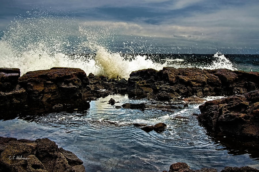 Waves Photograph - Tide Coming In by Christopher Holmes