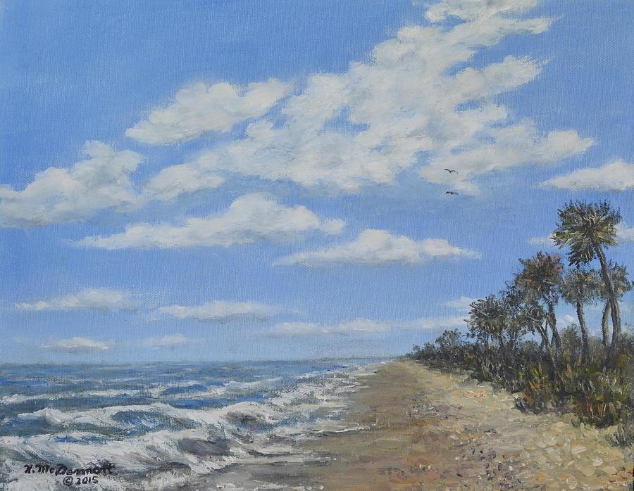 Seascape Painting - Tide Line by Kathleen McDermott