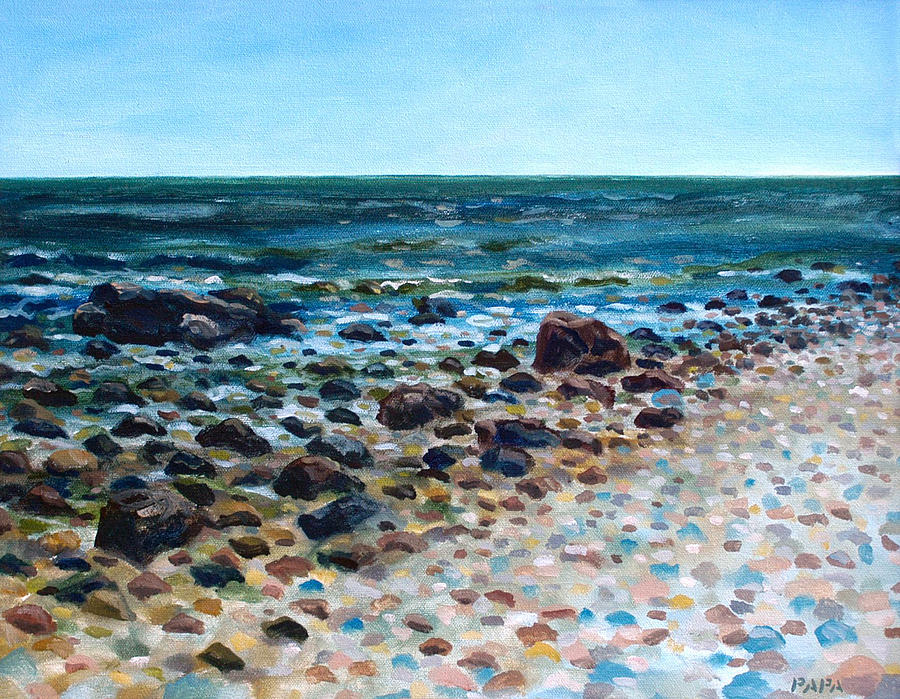 Montauk Point Painting - Tides Out by Ralph Papa