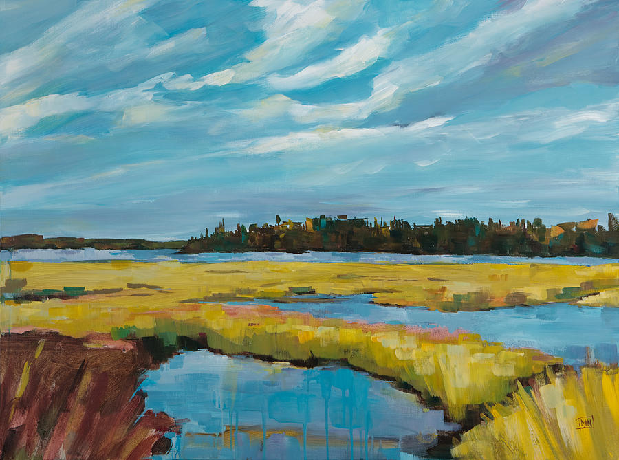 Landscape Painting - Tidewater II by Michele Norris