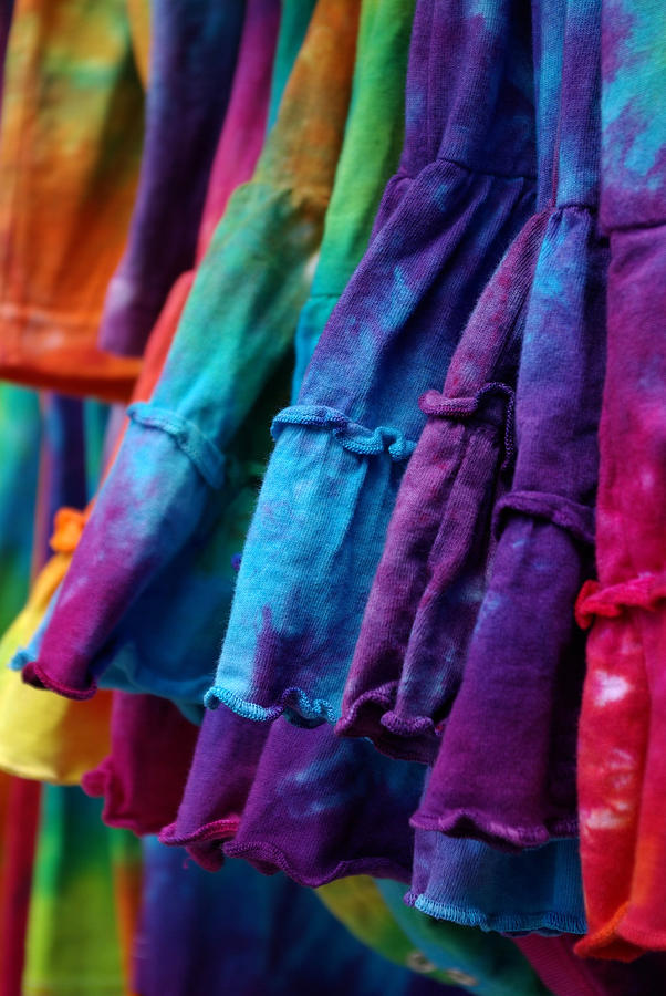 Tie Dyed Photograph - Tie Dyed  by Linda Mishler