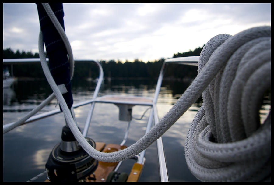 Sailboat Photograph - Tied by Matthew Meredith