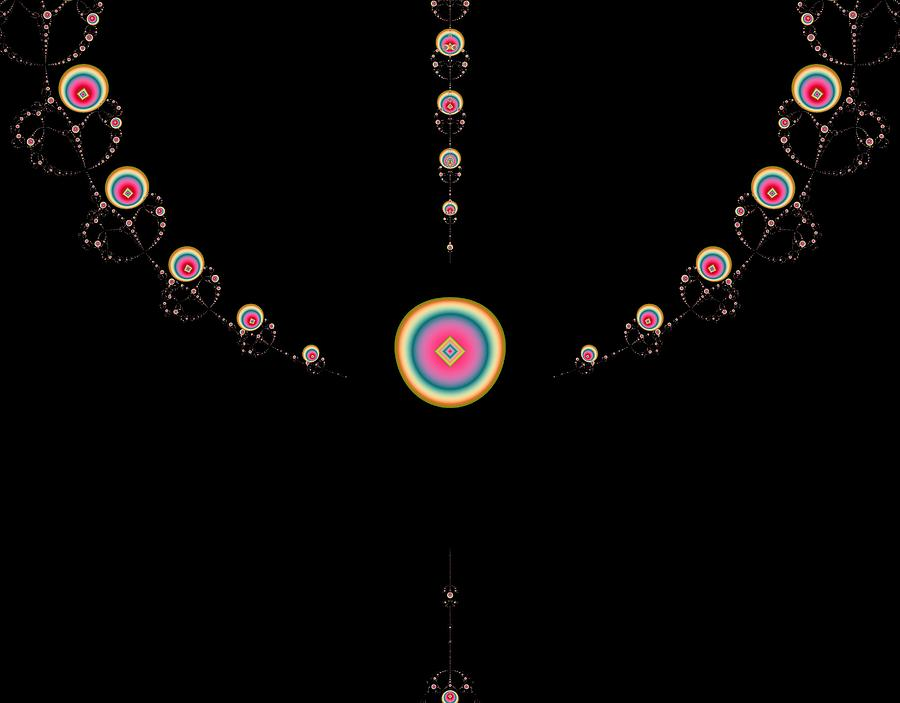 Digital Digital Art - Tiered Necklace by Thomas Smith