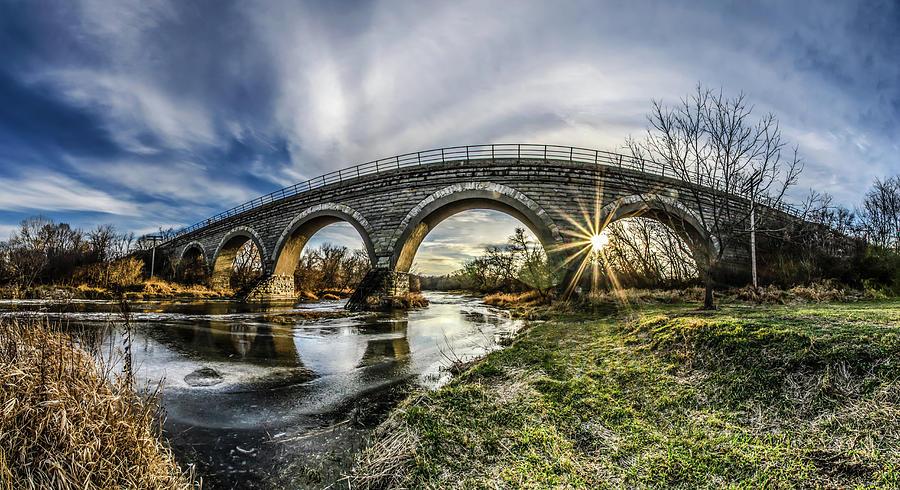 Tiffany Railroad Bridge In Wisconsin Stock Image - Image