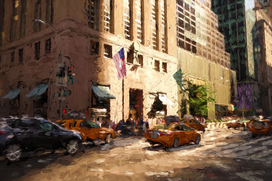 New York Digital Art - Tiffanys 5th Ave, New York by Matthew Ashton
