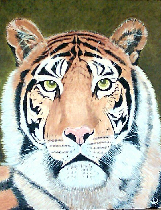 Wildlife Painting - Tiger 2 by Al Borrego