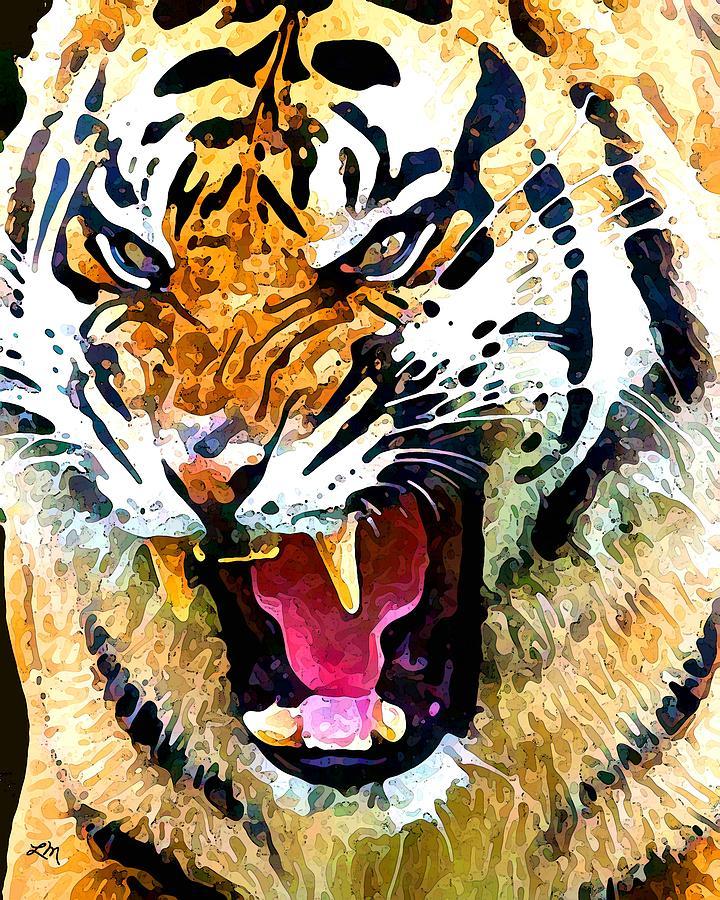 Tiger Effect Digital Art